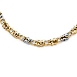 Italian 14k Two-Tone Gold Polished and Textured Fancy Link Necklace - 17.5 inches|https://ak1.ostkcdn.com/images/products/is/images/direct/f03dbcc3a9c6b3bacf217e10bacf1dd2dc22dfb0/845023/Italian-14k-Two-Tone-Gold-Polished-and-Textured-Fancy-Link-Necklace---17.5-inches_270_270.jpg?impolicy=medium