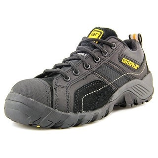 Caterpillar Argon Women Steel Toe Leather Black Work Shoe