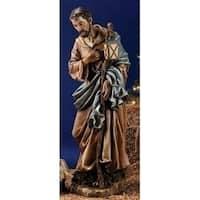 """38"""" Scale Joseph's Studio Joseph Christmas Nativity Outdoor Statue in Color - brown"""