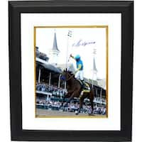 Victor Espinoza signed 8x10 Photo 2015 Kentucky Derby Horse Racing Triple Crown Custom Framed ridin