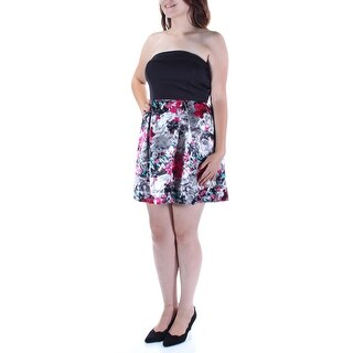 Womens Black Sleeveless Above The Knee Empire Waist Party Dress Size: 5