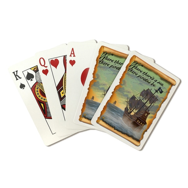Pirate Ship on Pursuit - LP Artwork (Poker Playing Cards Deck)
