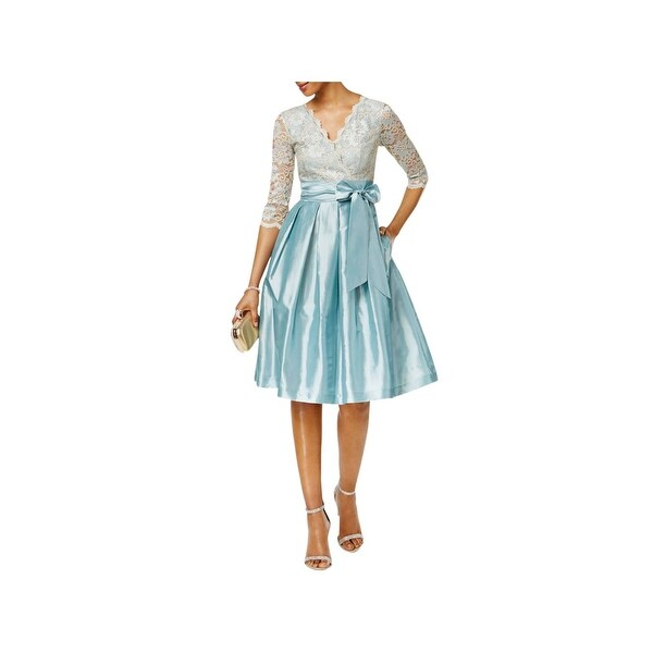 c35d4f0645eda Shop Jessica Howard Womens Semi-Formal Dress Lace V-Neck - Free ...