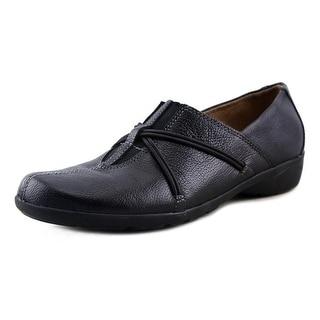 Naturalizer Natania 2 Women  Round Toe Leather Black Loafer