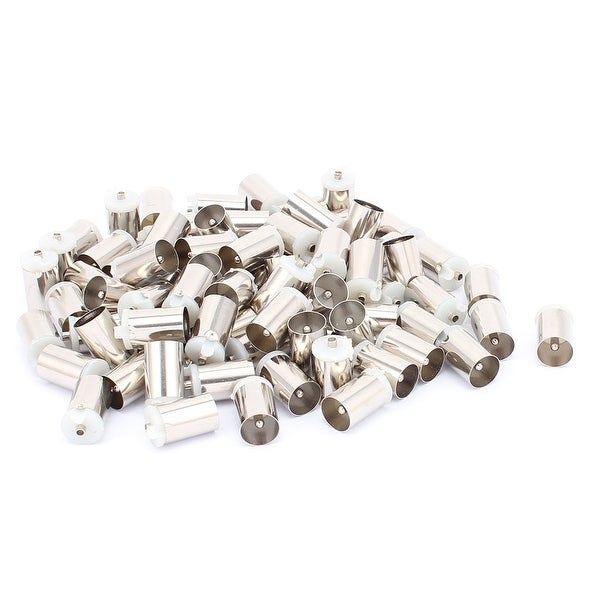 TV Coaxial Cable Solder Male Plug Aerial RF Connector 9.5mm Dia 80PCS