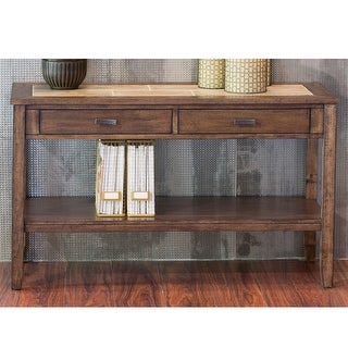 Link to Mesa Valley Tobacco Ceramic Tile Top Sofa Table Similar Items in Living Room Furniture