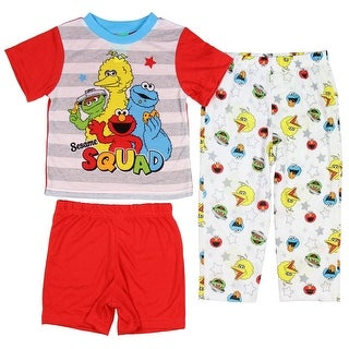 Sesame Street Little Boys' Sesame Squad 3-Piece Pajama Set