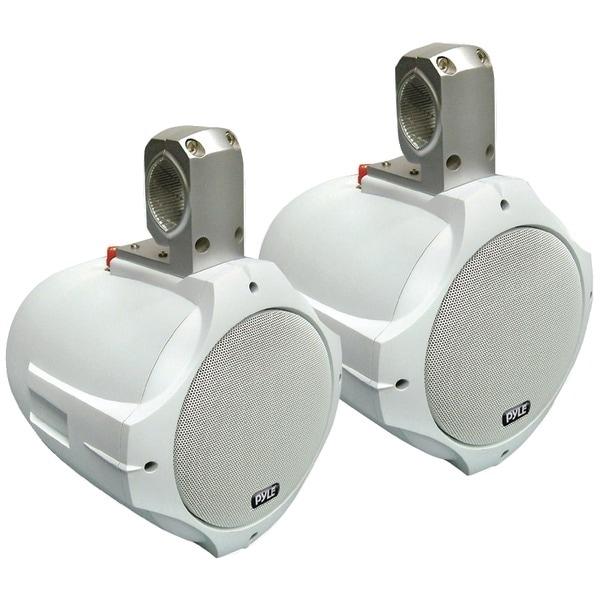 """PYLE PRO PLMRW65 Hydra Series 2-Way Wakeboard Speakers (6.5"""", 200 Watts, White)"""