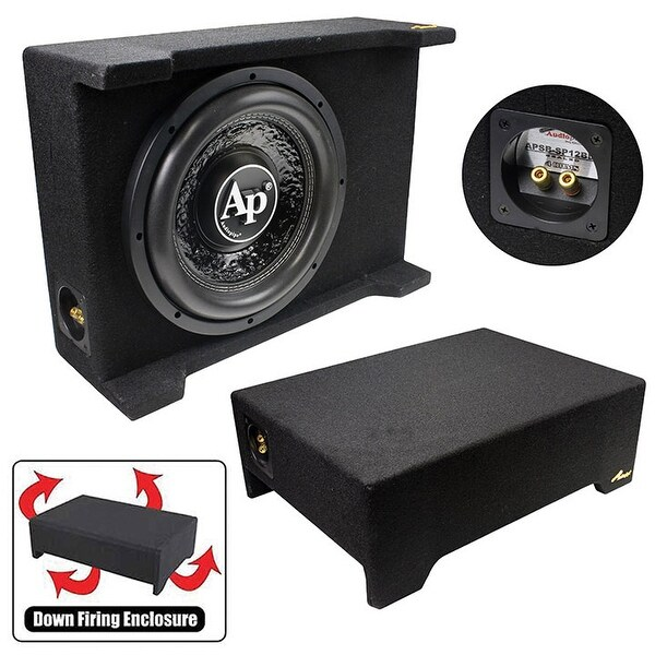 """Audiopipe 10"""" Loaded Sealed Enclosure 600 Watts Shallow Mount 4 Ohm"""
