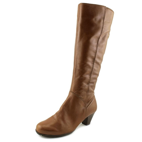 Gabor 51.647 Women Round Toe Leather Brown Mid Calf Boot