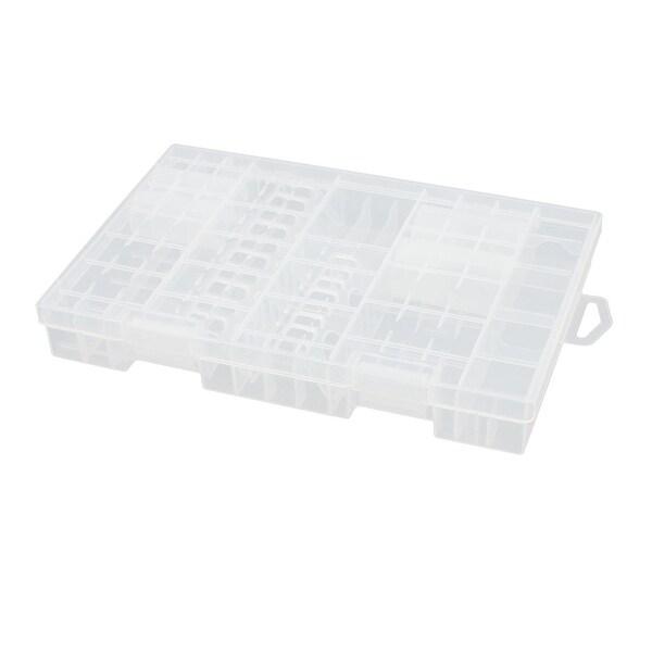250mmx165mmx37mm Transparent Hard Plastic Battery Case Organizer for C Batteries