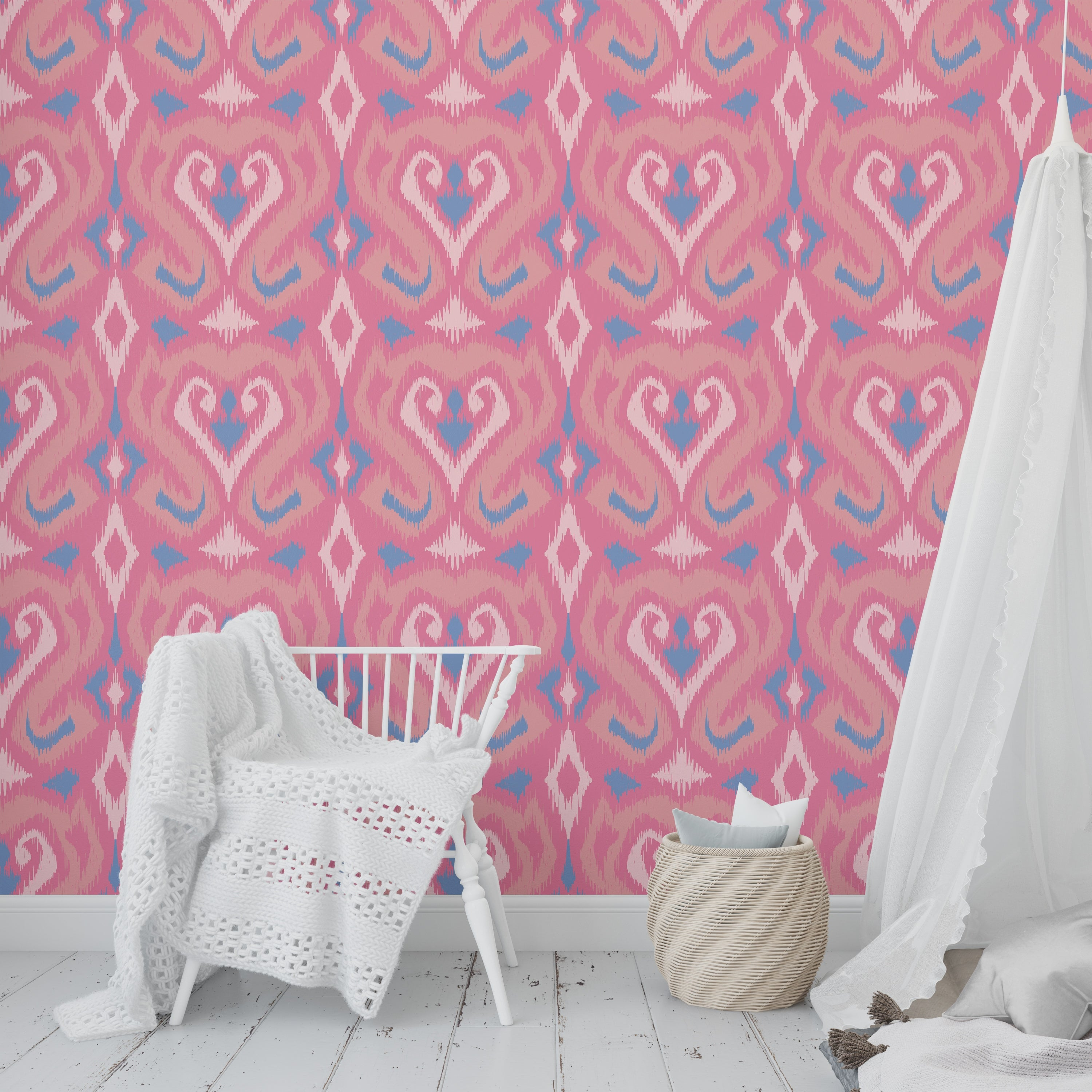 Shop Cupcake Dark Pink And Blue Peel And Stick Wallpaper By Kavka Designs 2 X 16 Overstock 31638230
