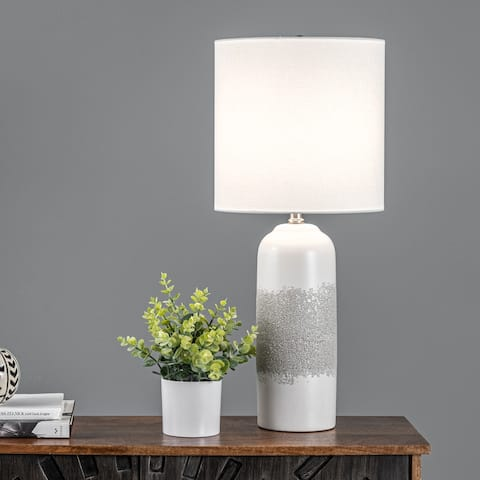 """nuLOOM Norwich 25"""" Ceramic Table Lamp - 11"""" W x 11"""" D x 25"""" H"""