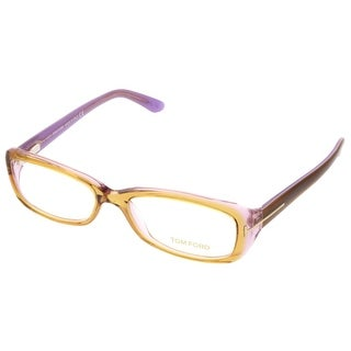 Tom Ford FT5213/V 050/56 Clear Yellow Rectangular Opticals
