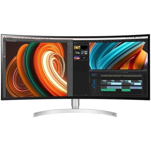 """LG 34BK95C-W 3440 x 1440 34"""" Curved IPS FreeSync Monitor,White(Used-Good) - White"""