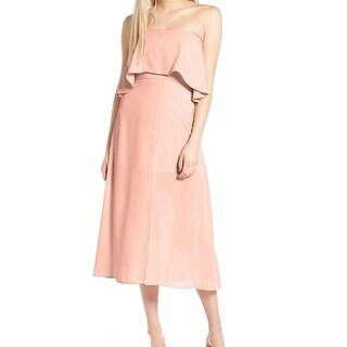 Charles Henry NEW Pink Womens Size Large L Popover Slit Shift Dress