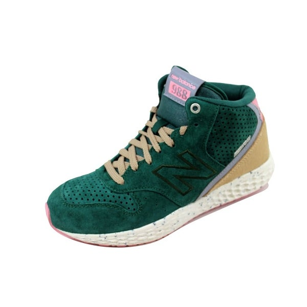 New Balance Men's 988 Fresh Foam Mid Cut Green/Pink MH988XGO Size 9