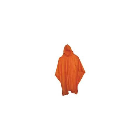 Boss r cat gloves 63 52 x 80 side-snap 10mm vinyl poncho with hood - orange
