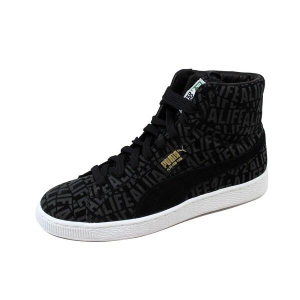 Puma Men's Suede Mid X Stuck Alife Black 358866 01 Size 8