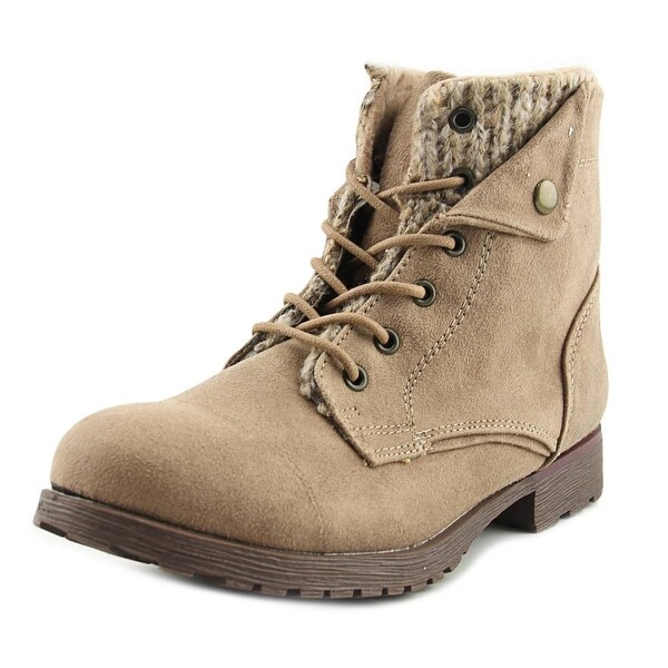 Rock & Candy Tavin Women Round Toe Canvas Tan Ankle Boot
