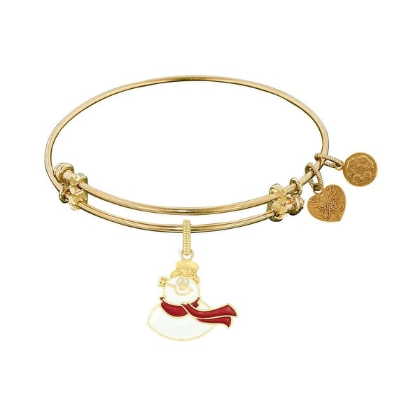 Angelica Collection Frosty the Snowman Expandable Bangle Brass