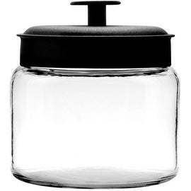 Anchor Hocking 96710 Mini Montana Jars with Black Metal Covers, 48 OZ