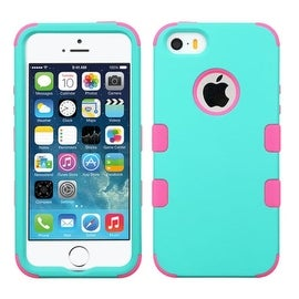 Insten Dual Layer Hybrid Rubberized Hard PC/ Silicone Case Cover For Apple iPhone 5/ 5S/ SE