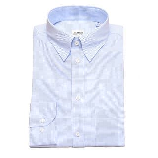 Armani Collezioni Men Modern Fit Cotton Point Dress Shirt Blue White|https://ak1.ostkcdn.com/images/products/is/images/direct/f046be07e6fd9a433789dbfee264664999b725f4/Armani-Collezioni-Men-Modern-Fit-Cotton-Point-Dress-Shirt-Blue-White.jpg?impolicy=medium