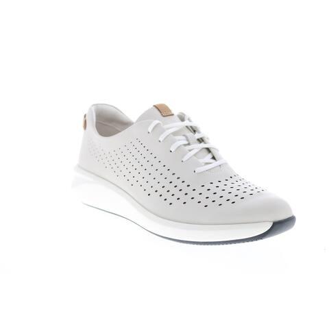 Clarks Un Rio Tie White Womens Lifestyle Sneakers