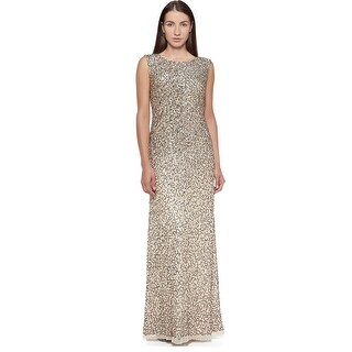 Aidan Mattox Sleeveless Allover Sequined Evening Gown Dress - 12