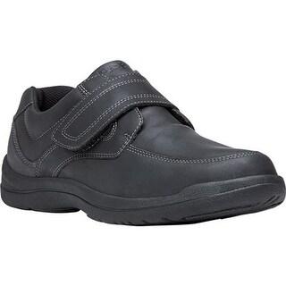 Propet Men's Gary Monkstrap Black Full Grain Leather