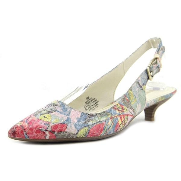217caa10380 Anne Klein Expert Women Pointed Toe Leather Multi Color Slingback Heel