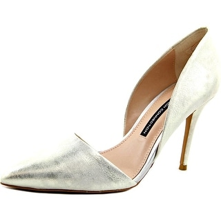 French Connection Elvia Women Silver Pumps