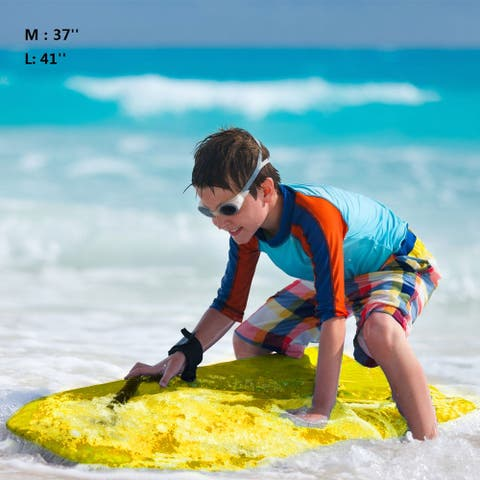 Goplus 41''/37'' Super Lightweight Bodyboard Surfing W/Leash EPS Core