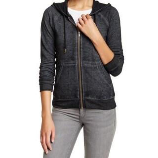 Free Press NEW Gray Women's Size Medium M Full Zip Hooded Jacket