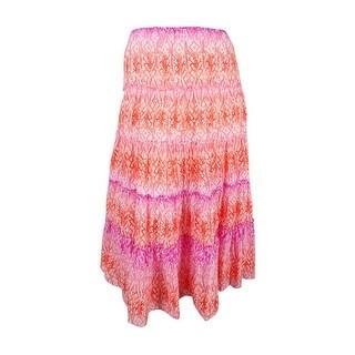 Lauren Ralph Lauren Women's Tiered Skirt (2X, Multi) - Multi