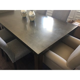 ... Cassidy Stainless Steel Top Rectangle Dining Table By INSPIRE Q Artisan