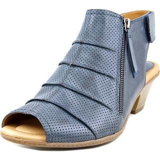 Earth Hydra Women Open-Toe Leather Blue Slingback Sandal