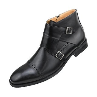 Amali Mens Ankle Boot with Monk Strap