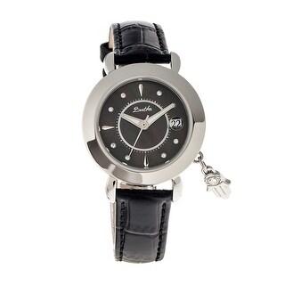 Bertha Hannah Women's Quartz Watch, Mother of Pearl Dial, Genuine Leather Band, Luminous Hands