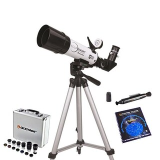 Celestron 22060 EclipSmart 50mm f/7.2 Alt-Az Solar Telescope W/ Eyepiece,skymaps,lenspen & Backpack