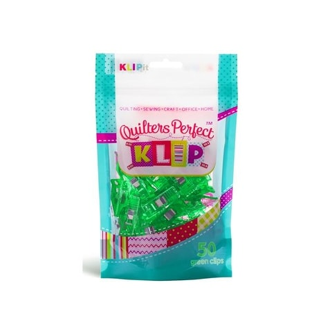 KLIPit Quilters Perfect Klip 50pc Green