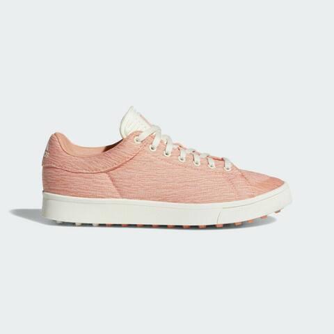 Junior Adidas Adicross Chalk Coral/ White/Coral Golf Shoes DA9139