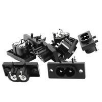 8pcs IEC320 C8 Male Plug Power Adapter Connector Socket AC 250V 2.5A Amp