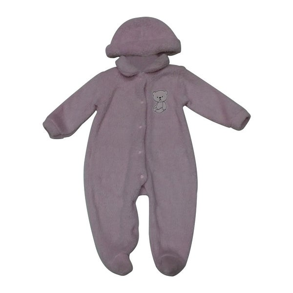 Bon BeBe Baby Girls Pink Bear Embroidered Hat Cover All Bodysuit