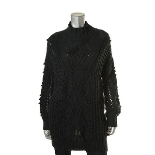 525 America Womens Cable Knit Popcon Tunic Sweater