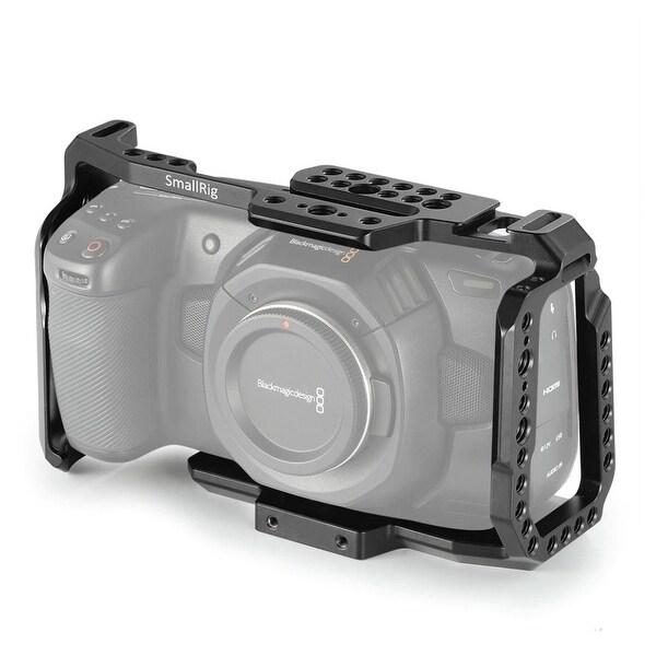 Shootvilla Blackmagic Pocket Cinema Camera cage with Wooden Grip Handle