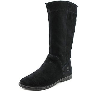 Timberland Earthkeepers Tall Unlined Boots Youth Suede Black Mid Calf Boot