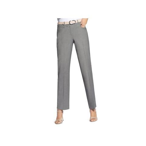 Basler Womens Straight Leg Pants Wool Solid