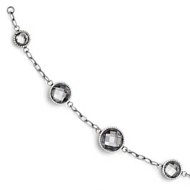 Chisel Stainless Steel Glass Polished Bracelet